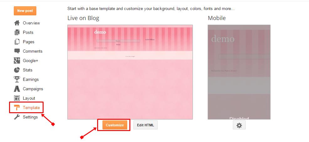 Customize Par click kare