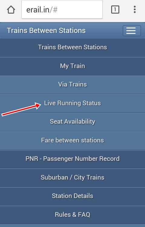Live Train Running Status Kaise Check Kare 2