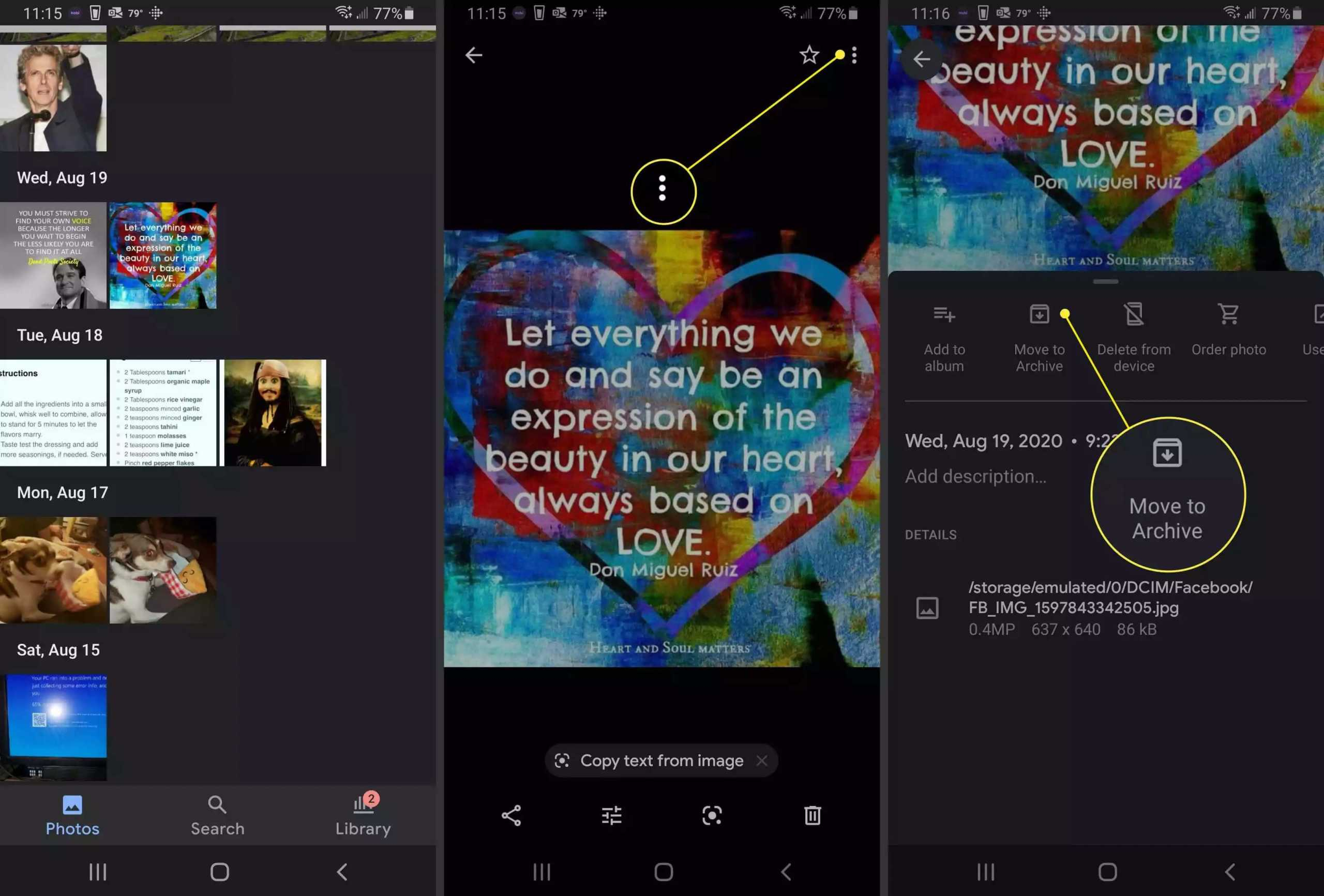 Hide Photos in Android